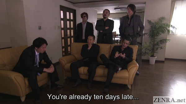 yakuza gather to collect debt