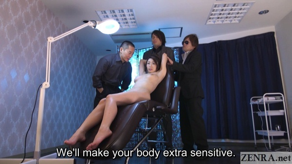 naked ayumi shinoda prepared for indecent oil massage