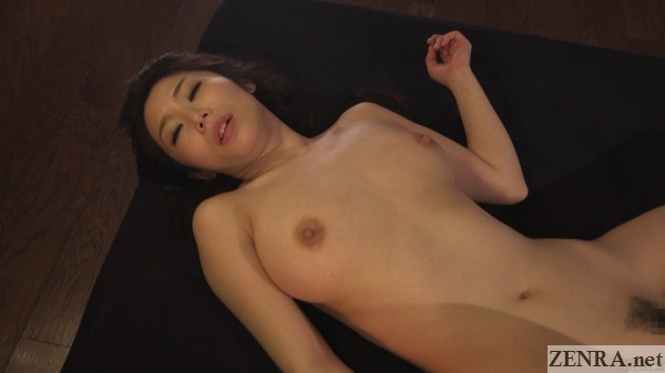 supine stark naked ayumi shinoda sweaty after sex