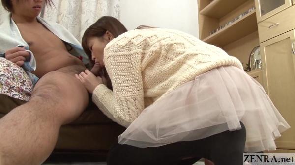 surprise cfnm uncensored japanese blowjob