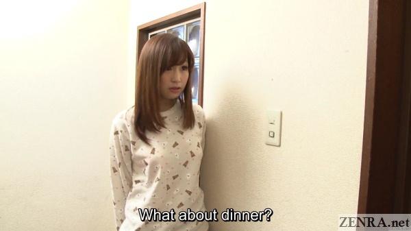 crestfallen japanese teen makes dinner for one