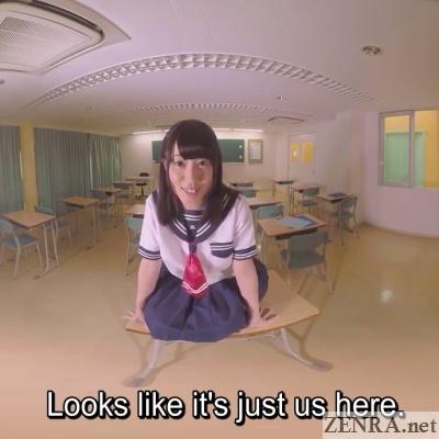 yuzu serizawa in classroom vr