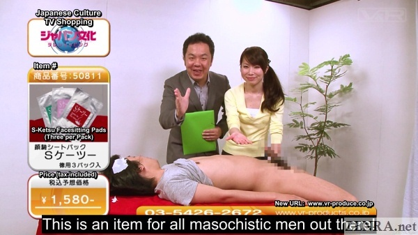 cfnm japanese home shopping announcer hand covered in cum