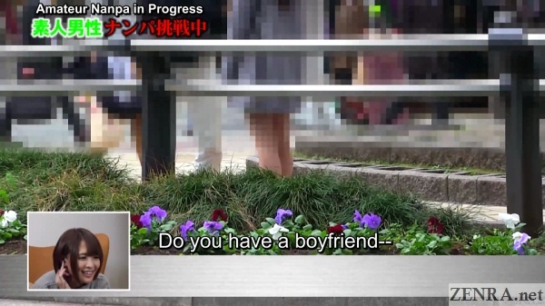 japanese pickup artist asks if target has boyfriend