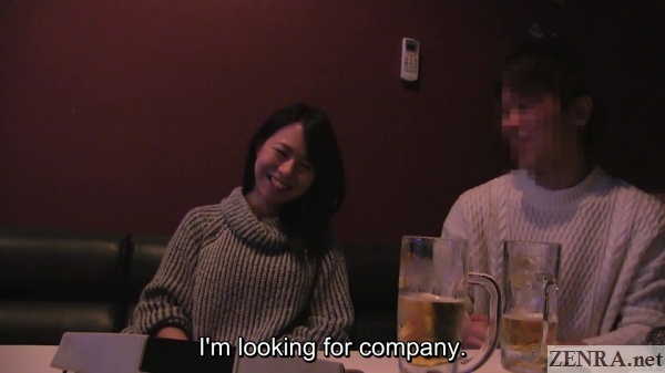 new japanese couple verbally tease each other at karaoke