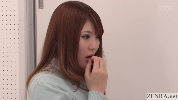 nishina momoka discovers school secret