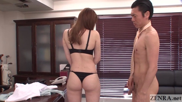 nudist japanese principal surveys teacher in thong