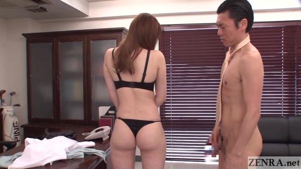 nudist japanese principal surveys teacher in thong