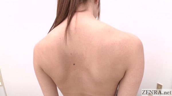 back of japanese newhalf akari yukino