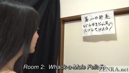 whack a mole fellatio bizarre japanese game
