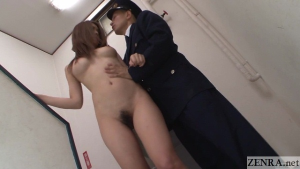 beautiful naked japanese prisoner with clothed guard