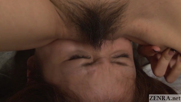 japanese lesbian facesitting extreme close up