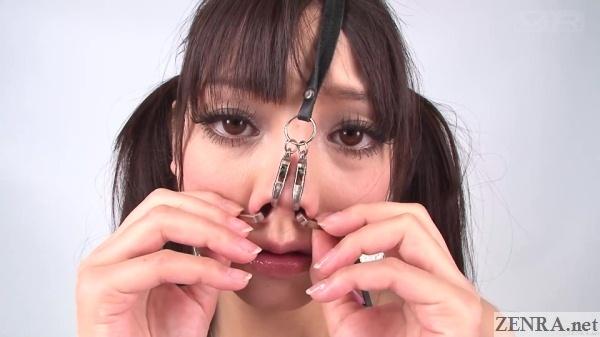 mizuna rei takes off nose hooks