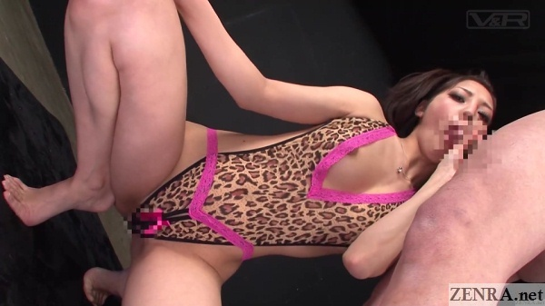 blowjob by squatting mizuna rei in revealing lingerie