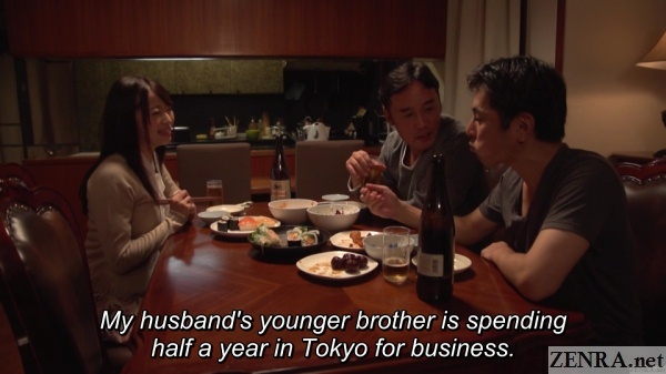 dinner time saki hatsumi husband and brother