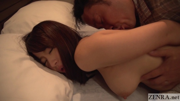bound saki hatsumi back licked