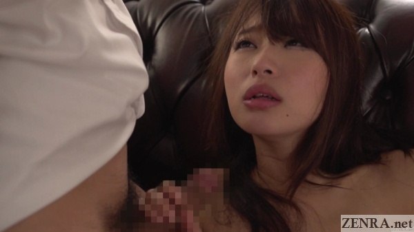 hatsumi saki perfect pout holding erection