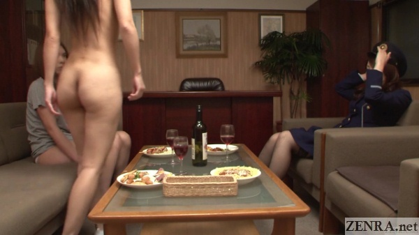 leggy naked inmate lesbian seduction