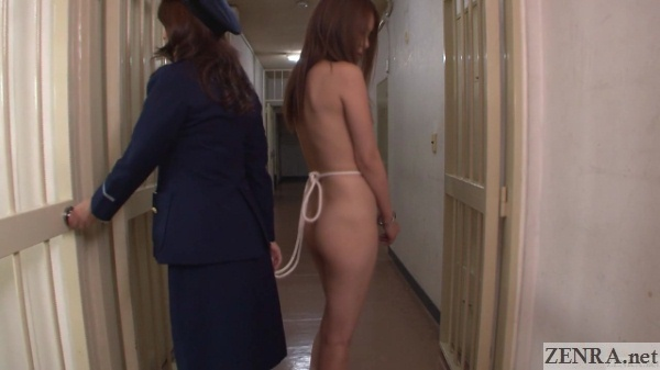 cfnf embarrassed naked inmate with clothed head warden