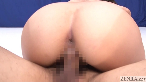 exposed anus bent over japanese cowgirl sex