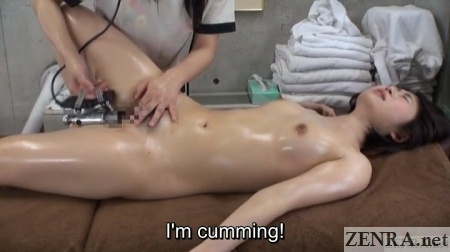 accidental orgasm at japanese massage clinic