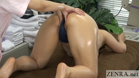 japanese milf on all fours for massage