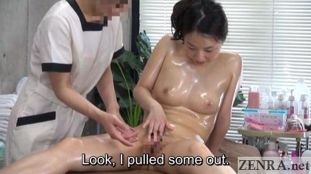 medicinal cfnf japanese masturbation in front of masseuse