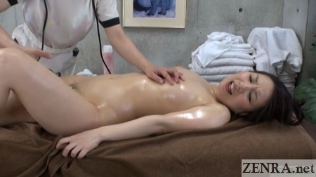 japanese lesbian massage customer reaches climax