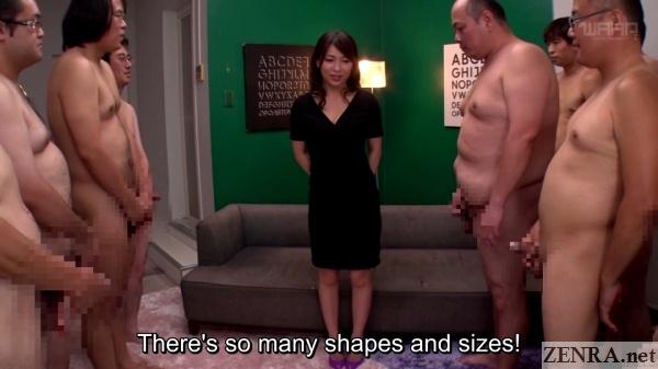 japanese cfnm masturbating men surround kaho kasumi