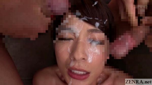 real japanese bukkake facial cumshots