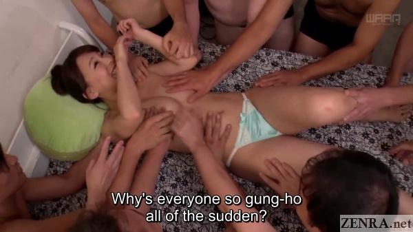 juice men surround topless kaho kasumi