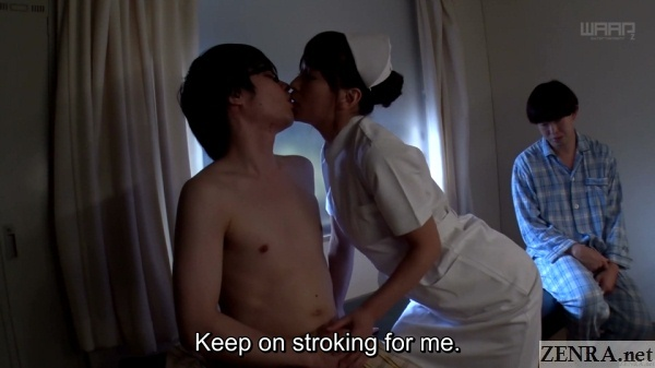 nurse kaho kasumi kisses horny patient