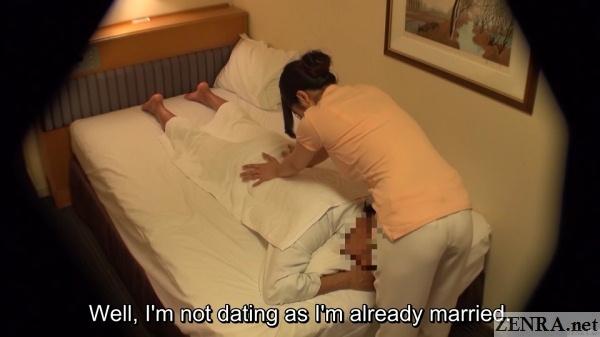 married japanese masseuse gives massage