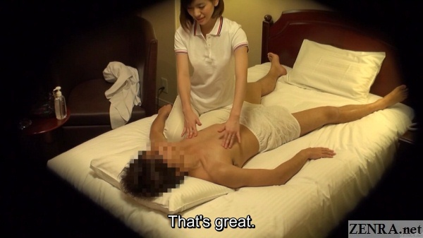 married masseuse massages nipples