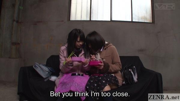 lunch time japanese schoolgirls cutting class
