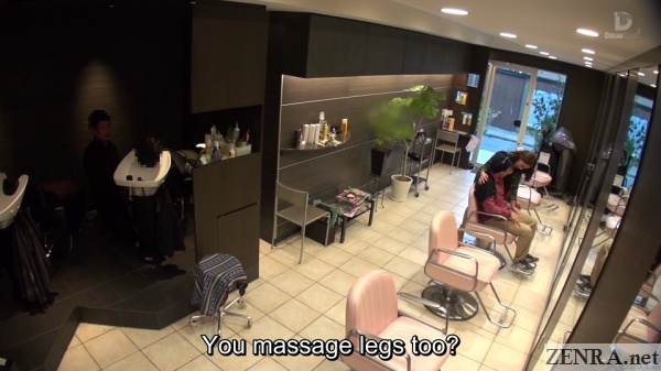 leg massage at japanese hair salon
