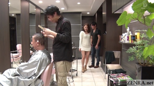 hair stylist hanasaki ian walk of shame with customer