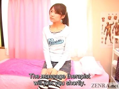japanese woman awaits massage