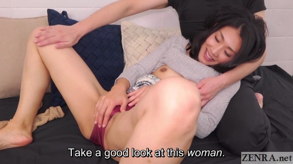 embarrassed japanese wife spread eagle