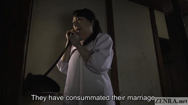 phone call between families in japan