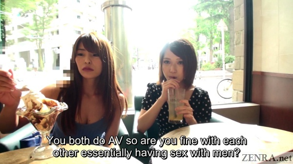 real japanese lesbians asked about being hetero porn stars