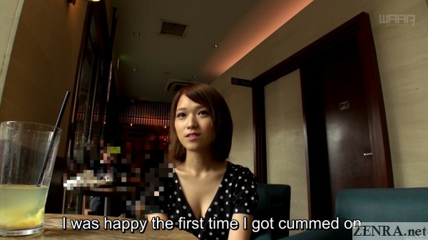 shiina sora happy to be cummed on cafe interview