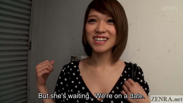 shiina sora on lesbian date surprise jav filming
