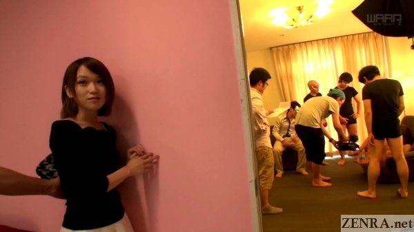 sora shiina surprise jav set walk on