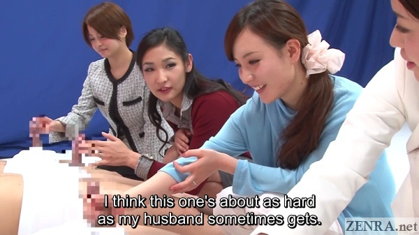japanese cfnm handjob game show with young mothers