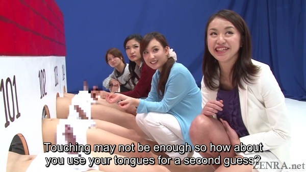 crazy jav cfnm game show young mothers face off against erections