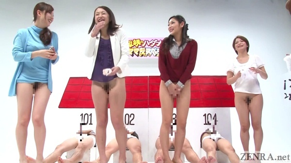 bottomless japanese young mothers prepare to play crazy sex game