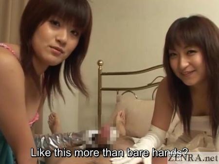 gloved japanese handjobs by lewd women