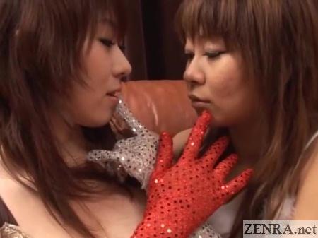gloved japanese women