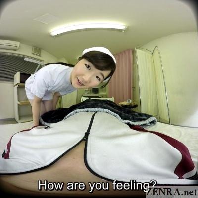visit by japanese nurse in hospital vr